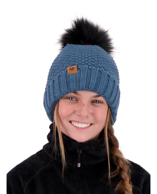 Obermeyer Riverside Faux Fur Pom Hat - Slate
