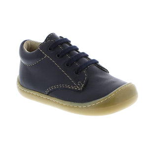 Footmates Reagan Lace Bootie - Navy Leather