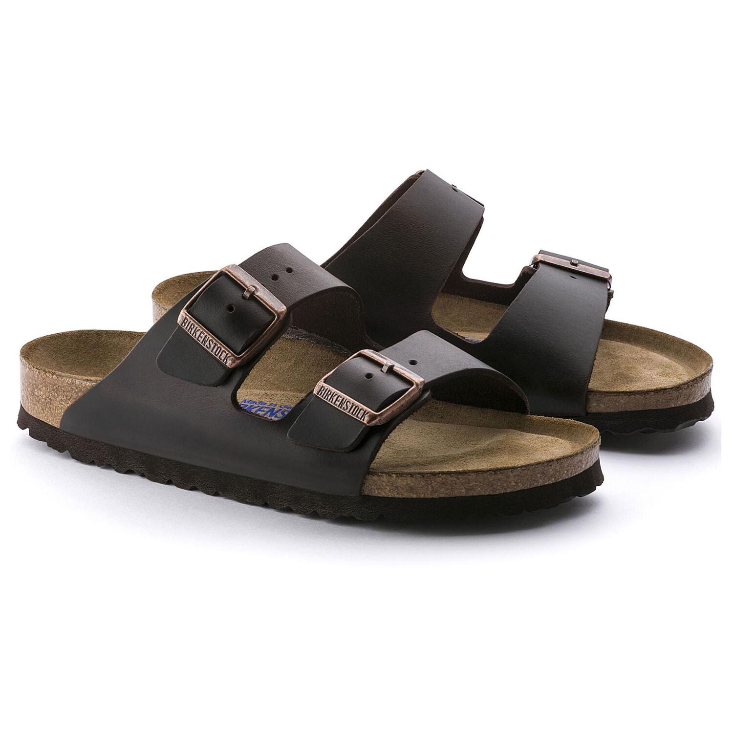 Arizona Soft Footbed Smooth Leather Sandal -  Amalfi Testa Di Moro