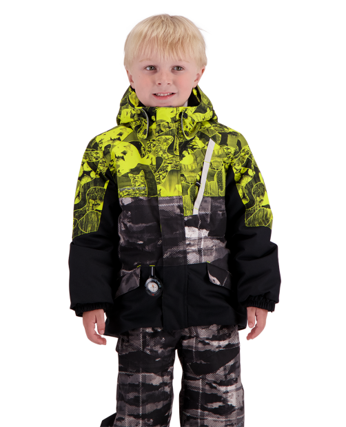 Obermeyer Boys M-Way Winter Jacket-Strato Plaid