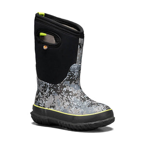 Bogs Classic Micro Camo Kids' Winter Boots - Grey Multi