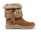 Minnetonka Moc Womens Everett Boot in Brown (Sizes W5-W10)