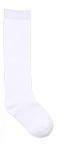 Gloria Flat Knit Knee High Socks - White