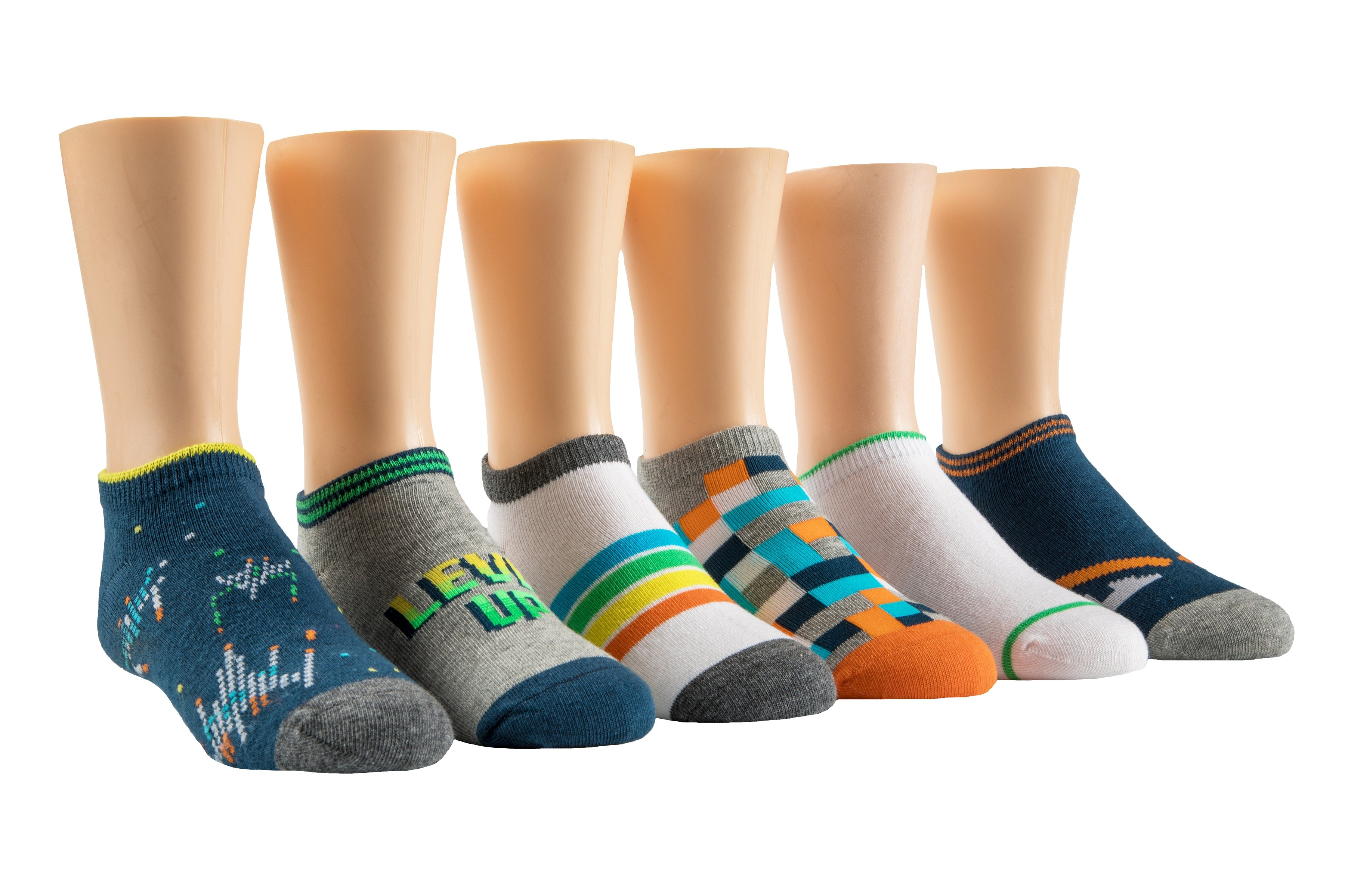 Vincent Video Game No Show Socks - 6 pack