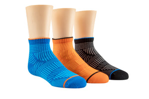 Toby Tonal Quarter Socks - 3 pack