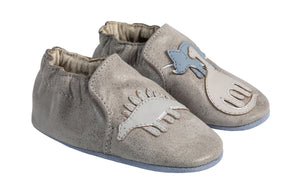Soft Sole Baby Shoes - Grey Ramsey