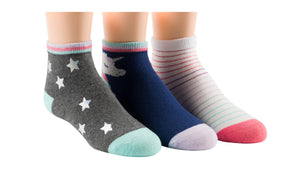 Sloan Unicorn Stars Quarter Socks - 3 pack