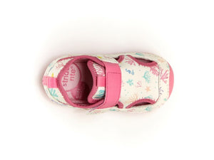 Soft Motion Splash Water Sandal - White Multi Print