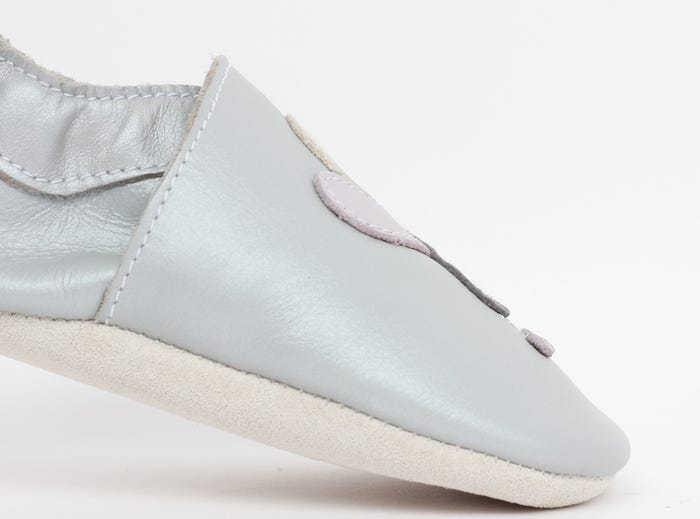Bobux Soft Sole Leather - Silver Dragonfly