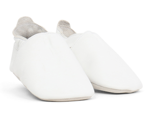 Bobux Soft Sole Leather - White Simple Solid