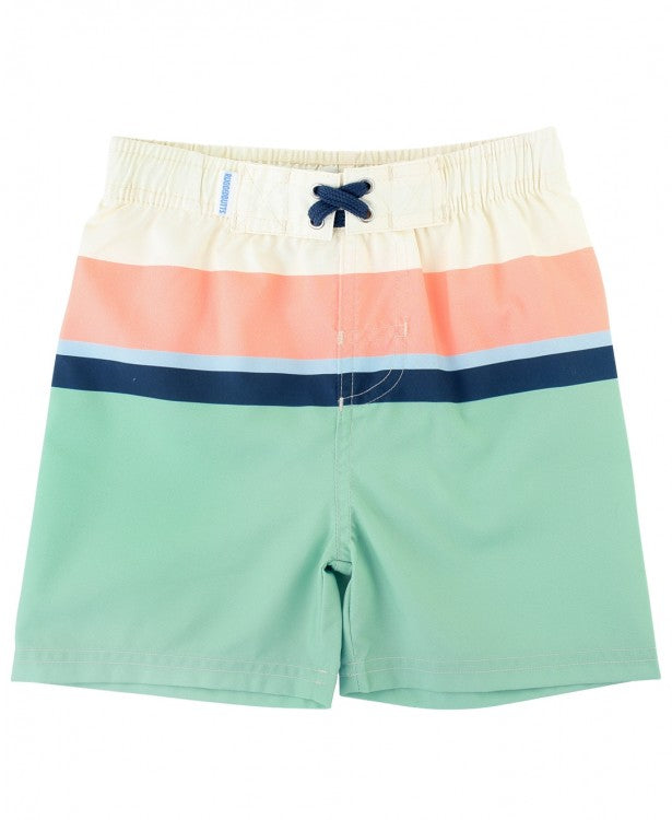 RuggedButts Sage Color Block Swim Trunks