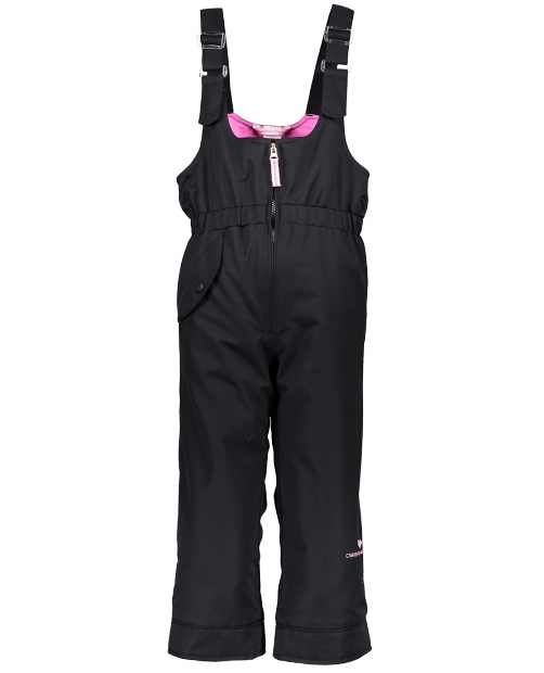Obermeyer Girls Snoverall Winter Pant-Black/Pink
