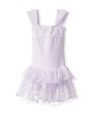 Capezio Ruched Strap Dress in Lavender -  - Little Feet Childrens Shoes  - 1