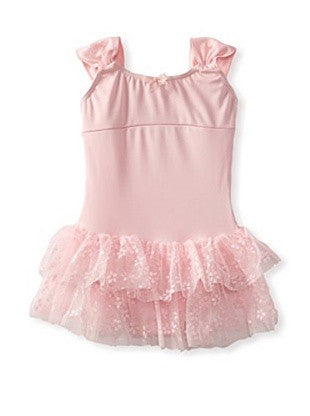 Capezio Ruched Strap Dress in Pink -  - Little Feet Childrens Shoes  - 1