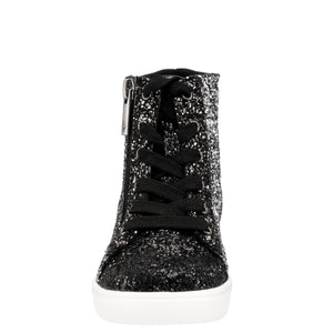 Nina Kids Desta Hi-Top Sneaker - Black Glitter