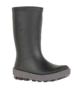 Kamik Kids Riptide Rain Boot - Black/Charcoal