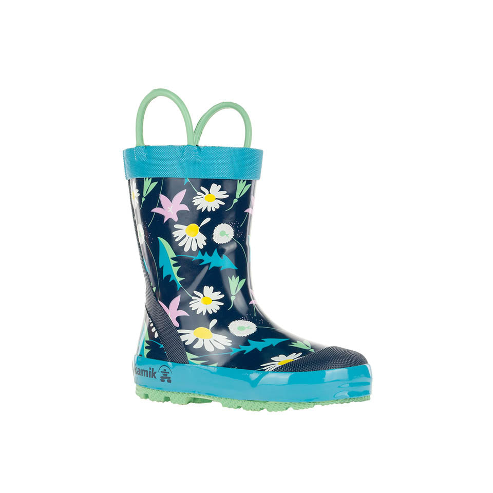 May Flower Rain Boot - Navy/Multi