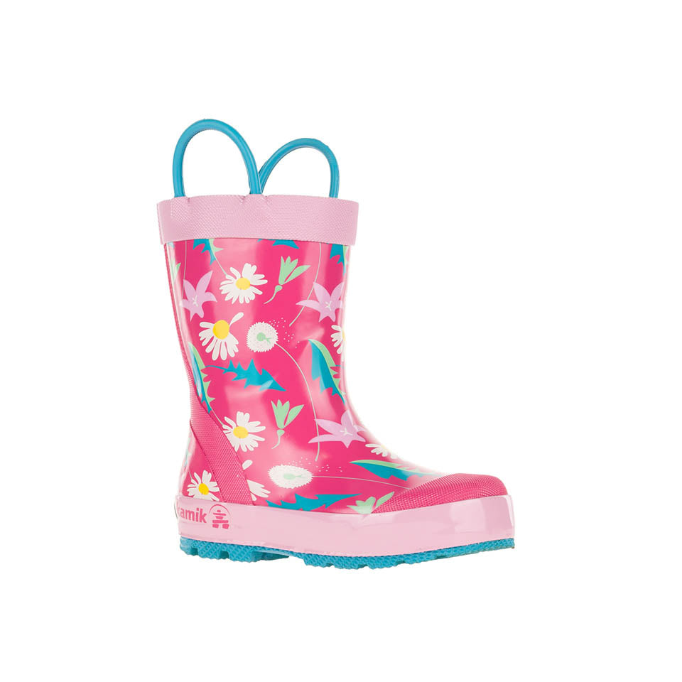 May Flower Rain Boot - Pink/Multi