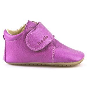 Prewalker Leather Bootie - Fuchsia