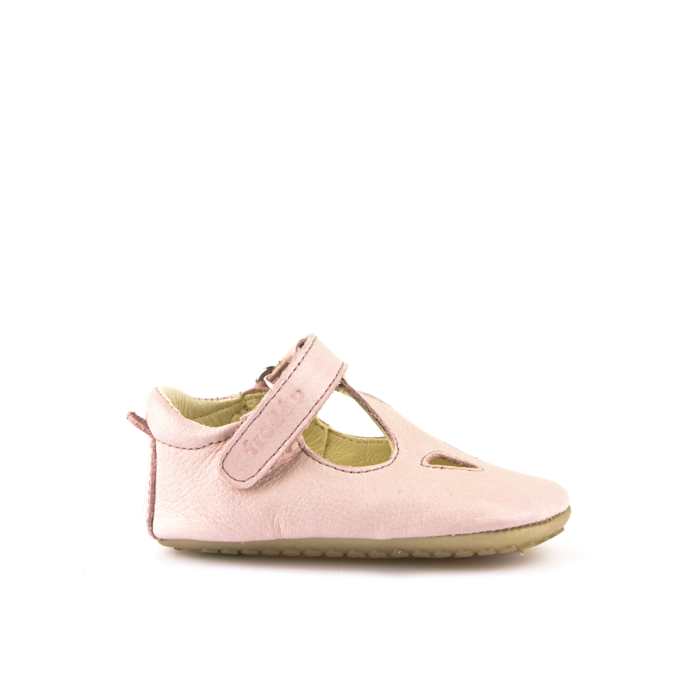 Froddo Leather T-Bar Prewalker - Light Pink
