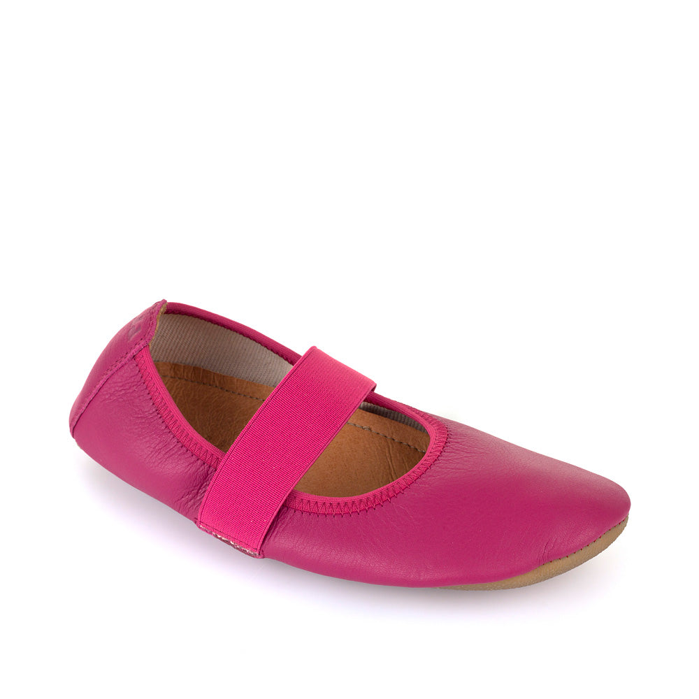 Froddo Kids Leather Slipper Ballet Flat - Fuxia Pink