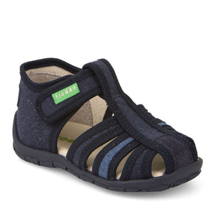 Canvas Slipper Sandal - Solid Navy
