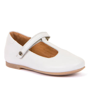 Froddo Dressy Leather T-Bar Ballerina - White