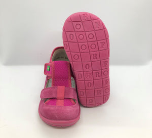 Canvas Slipper Sandal - Fuchsia Pink