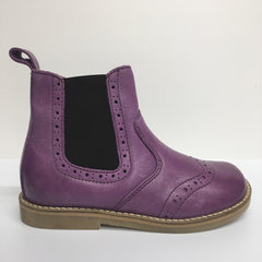 Froddo Leather Chelsea Ankle Children's Boot, Purple