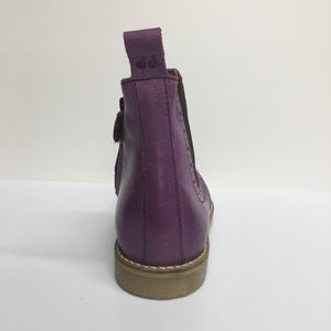 Froddo Leather Chelsea Ankle Boot - Purple