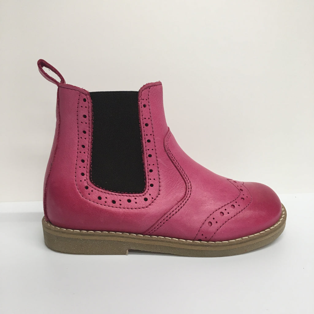 Froddo Leather Chelsea Ankle Children's Boot, Fuchsia Pink