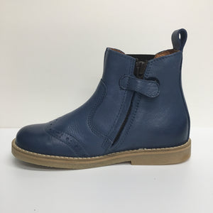 Leather Chelsea Ankle Boot - Blue