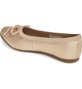 Kids Josie Flat - Rose gold