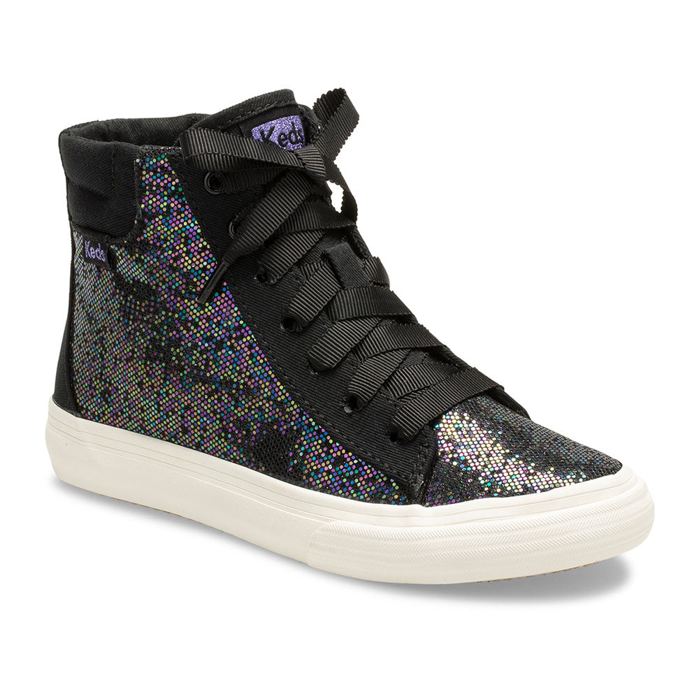 Keds Double Up Hi Top Black Sparkle