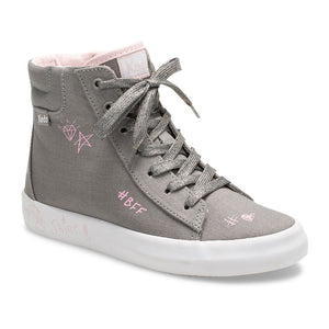 Double Up Hi Top BFF - Grey Canvas
