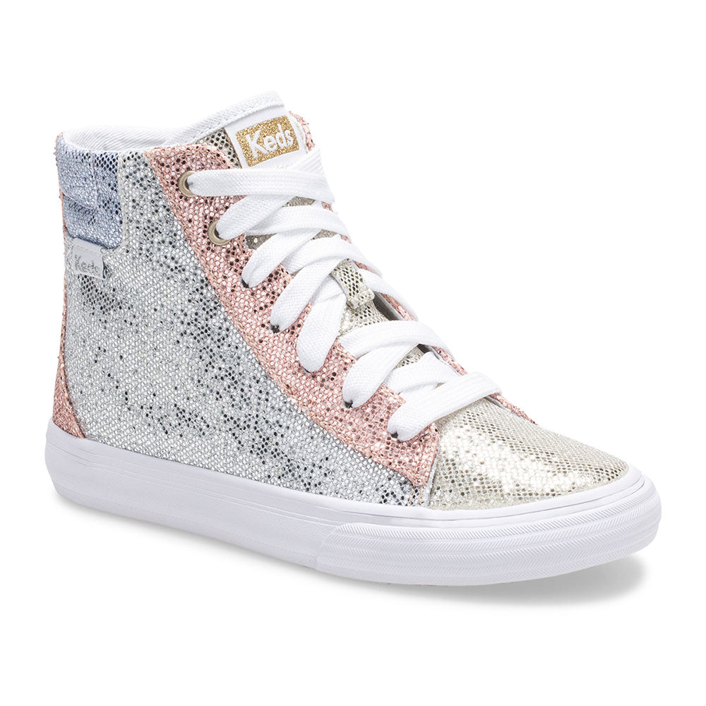 KEDS DOUBLE UP HIGH TOP SPARKLE COLORBLOCK