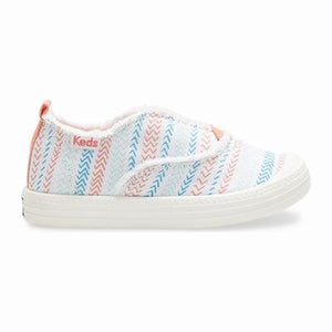 Keds Breaker Sneaker Slip-on in White Herringbone