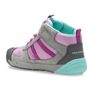 Kids Bare Steps Ridge Boot - Grey/Purple