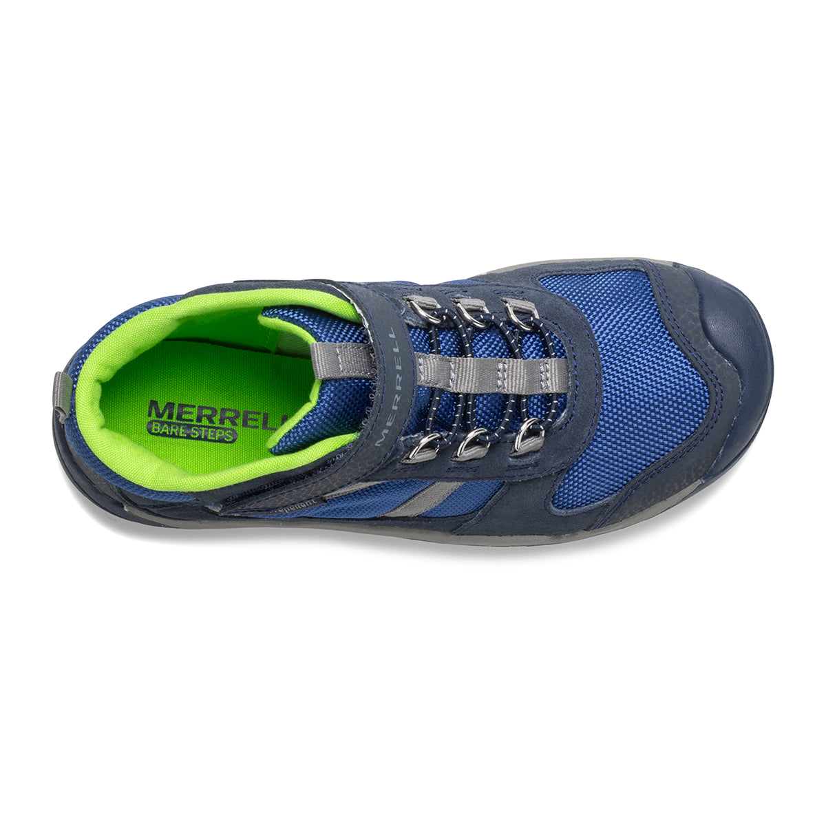 Merrell Kids Bare Steps Ridge Boot - Navy/Green
