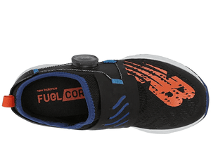 Fuel Core Reveal Boa Sneaker - Black with Marine Blue & Team Orange