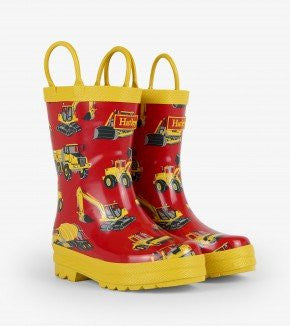Hatley Heavy Machines Rain Boot Red/Yellow
