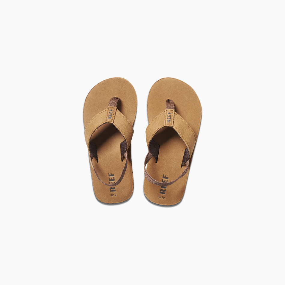 REEF KIDS LITTLE LEATHER SMOOTHY - BRONZE BROWN