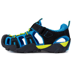 Pediped Flex Canyon Sandal - Black/Electric Blue