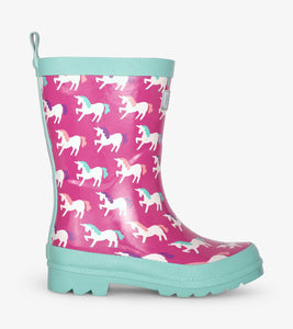 Hatley Mystical Unicorns Shiny Rain Boots