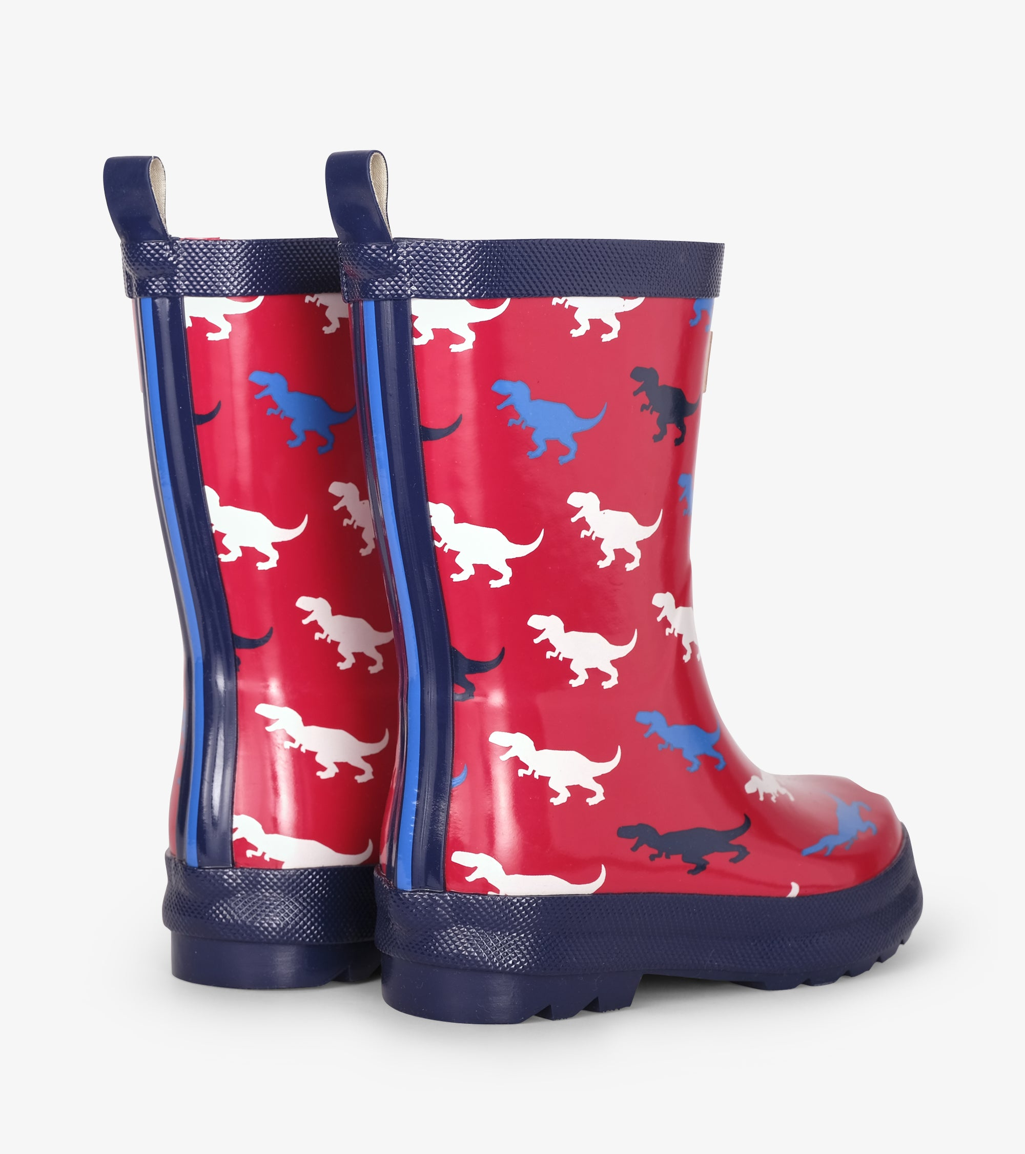 Hatley T-Rex Silhouettes Shiny Rain Boots
