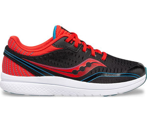 Saucony Big Kid's Kinvara 11 Sneaker - Black/Red/Blue