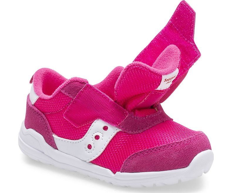 Saucony Little Kid's Jazz Riff Sneaker - Pink/White