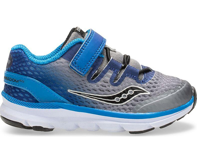 Saucony Kids Freedom ISO Sneaker - Grey/Blue