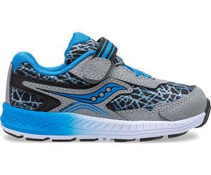 Saucony Little Kid's Ride 10 Jr. Sneaker - Grey/Blue/Black