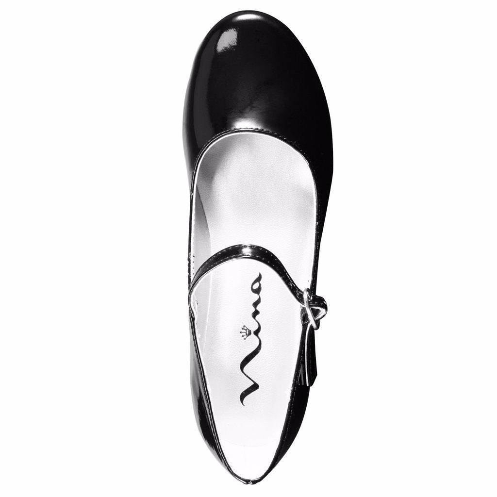 Nina Kids Seeley Mary Jane Dress Shoe - Black Patent